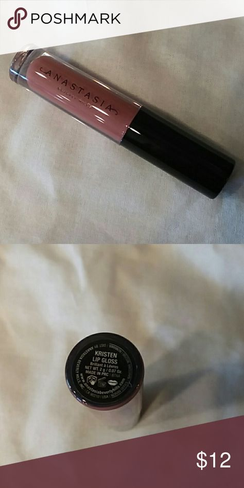 Anastasia Kristen lip gloss .07oz Brand new! Great way to try without the commitment. Large Sample size.  What it is: A fully-pigmented, weightless lip gloss formula in lacquer and luster finishes.  What it does: This ultra-pigmented lip lacquer delivers a mirror-like gloss finish. Its round, flexible applicator ensures precise application.  What it is formulated WITHOUT: - Sulfates - Phthalates  What else you need to know: Layer on top of Liquid Lipstick for a hydrated finish. Anastasia Beverly Hills Makeup Lip Balm & Gloss