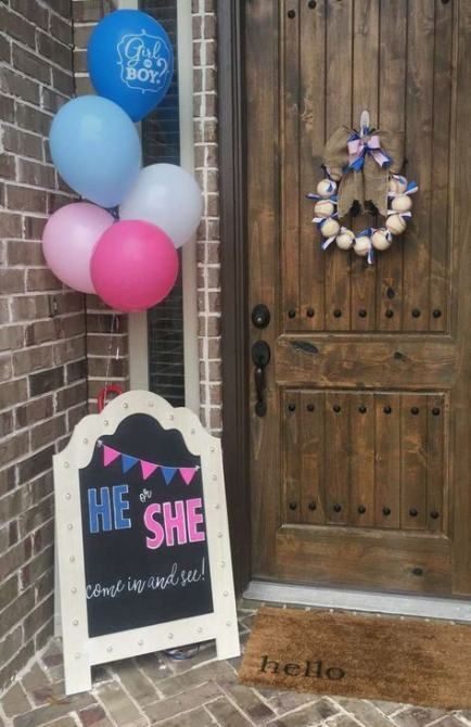 50 Gender Reveal Ideas For Party Decoration You Are Sure To Love Gender Reveal Decorations Gender Reveal Chalkboard Bow Gender Reveal
