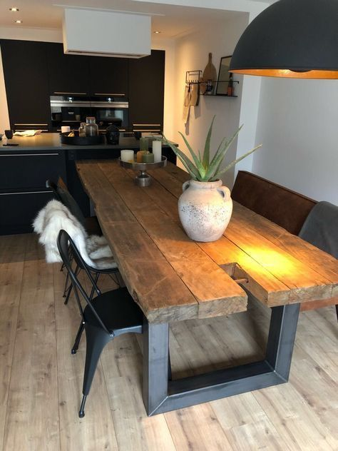 Pin By Mark Thompson On Tables Rustic Dining Room Table Rustic Dining Room House Interior