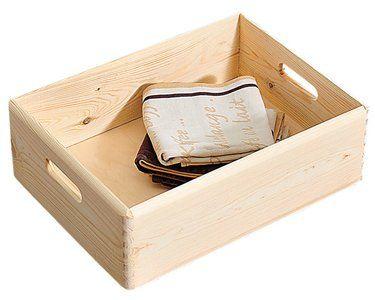 Kesper Allzweckkiste Kiefer 8 4 L Aufbewahrungsbox Kiste Obi