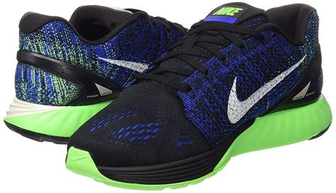 timeless design 011ae 02af5 Nike Lunarglide 7, Men s Training Running Shoes, Black (Black Sail Racer  Blue Voltage Green), 9 UK ( 44 EU)