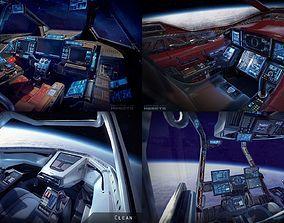 Sci Fi Fighter Cockpit 4 3d Model Sci Fi Model 3d Printing