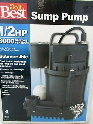 Details About New Do It Best Submersible Sump Pump 433020 1 2 Hp