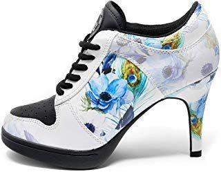 MISSY ROCKZ Blue Blossom Bequeme High Heels im Turnschuh