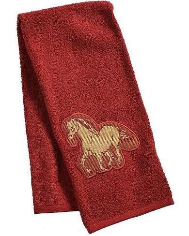 Rk15023 Running Horses Western Terry Towel Terry Towel Western Kitchen Decor Towel