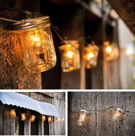 mason jar string outdoor lights