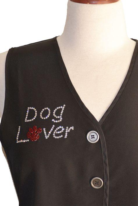 Dog Lover Rhinestone Transfer Iron On