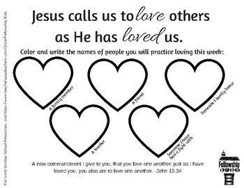 John 13 34 Worksheet Bible Lessons For Kids Sunday School