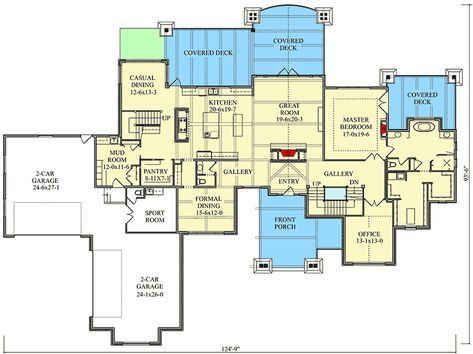 Plan 95063rw 4 Bed Mountain Home Plan With First Floor Master Mountain House Plans House Plans Floor Plans