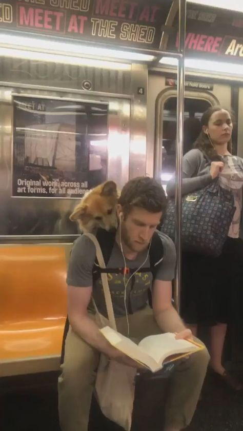 Reading on the subway. - #meme #reading #Subway