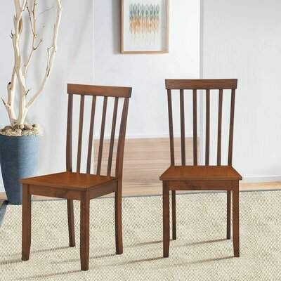 Set Of 2 Dining Chair Kitchen Spindle Back Side Chair With Solid Wooden Legs Red Barrel St In 2020 Upholstered Dining Side Chair Dining Chairs Solid Wood Dining Chairs