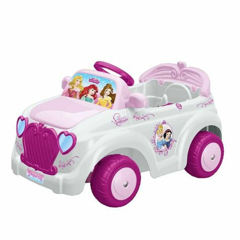 Voiture Vehicule Electrique Pour Enfant Fille Rose 6 V Feber Princesse Vehicules Electriques Voiture Vehicule