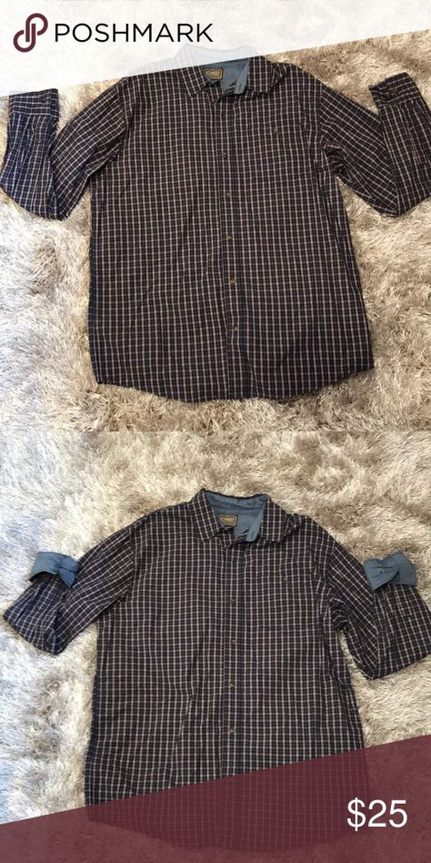 Schmidt Workwear long sleeve shirt Brown and Blue Schmidt Workwear long sleeve shirt. Only worn once. In great condition. Schmidt Workwear Shirts Casual Button Down Shirts