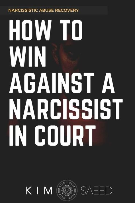 Divorcing a narcissist? Here's how to win against a narcissistic person in court. #narcissist #divorce