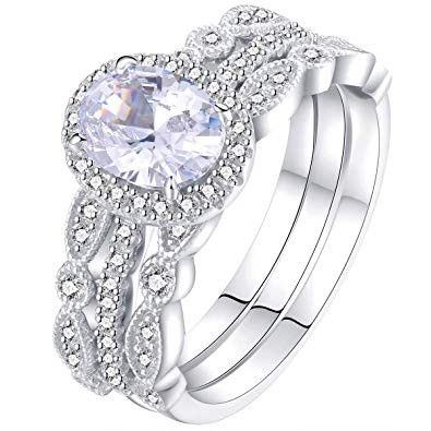 Pin By Ali On Weding Rings Sterling Silver Wedding Rings Sets Sterling Silver Wedding Rings Wedding Ring Sets