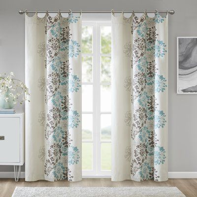World Menagerie Labombard Floral Semi Sheer Grommet Curtain Panel