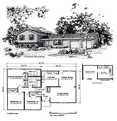 Beautiful Tri Level House Plans 8 1970s Tri Level Home Plans Split Level House Plans Tri Level House Split Level Floor Plans