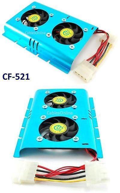 Evercool Cool Wheel Dual fan hard drive cooler