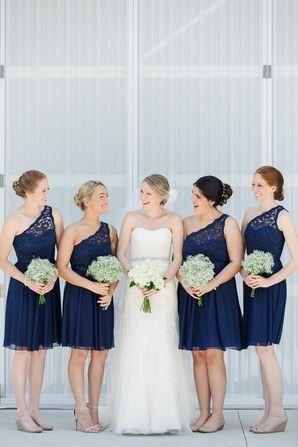 Short Navy One Shoulder Bridesmaid Dresses David S Bridal Blue Bridesmaid Dresses Short Davids Bridal Bridesmaid Dresses Navy Blue Bridesmaid Dresses Short