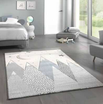 Carpet With Mountain Motifs Is Available In Different Sizes And Therefore Suitable For Every Nursery Moun Kid Room Carpet Baby Room Rugs White Rug Nursery