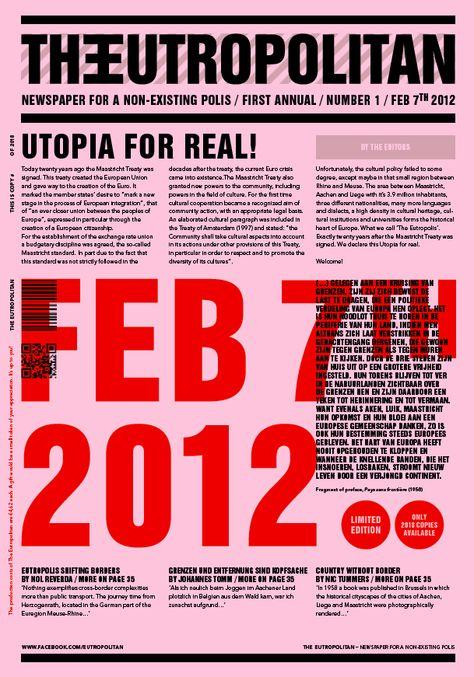 Newspaper Typography Poster Design Newspaper Book Design