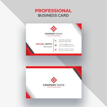 Professional Red Business Card Design Red Business Card Design Stationery Business Card Business Card Design
