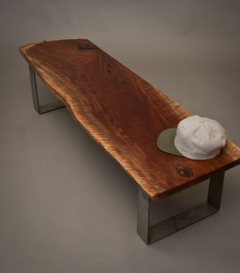 Pleasant Live Edge Black Walnut Bench Seattle Reclaimed Wood Gmtry Best Dining Table And Chair Ideas Images Gmtryco
