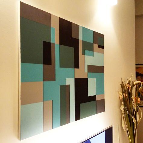 Sovrapposizione di colori - Pittura geometrica - acrilico su tela - Gaetano Massaro - Palermo - 6/2015