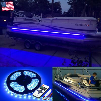 Sponsored Ebay Wireless Waterproof Led Strip Light 16ft For Boat Truck Car Suv Rv Blue In 2020 Led Boat Lights Boat Lights Pontoon