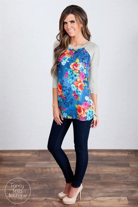 Floral Contrast Tunic! | Jane
