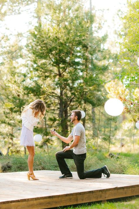 This surprise birthday proposal is like a fairytale romance.