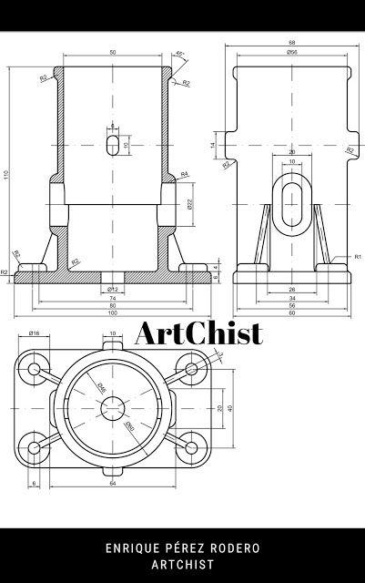 Ejercicios De Autocad 2d Y 3d Conceptos Basicos Linea Circunferencia Recorte Simetria Copiar Autocad Planos Autocad Diseno Mecanico