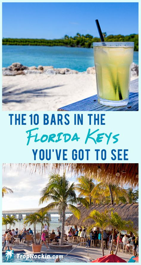These are the Best Florida Keys Bars . Cool, quirky, off the beaten path and some of the best ocean views. These are the 10 coolest bars in the Florida Keys you've got to see. Florida Keys Vacation, Things to do Florida Keys, Florida Travel. Florida Vacation, Florida Travel, Florida Beaches, Travel Usa, Florida Keys Honeymoon, Florida Trips, Visit Florida, Spain Travel, Vacation Spots