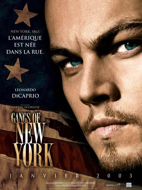 Gangs of New York est un film de Martin Scorsese avec Leonardo DiCaprio, Daniel Day-Lewis. Synopsis : En 1846, le quartier de Five Points, un faubourg pauvre de New York, est le théâtre d'une guerre des gangs entre émigrants irlandais d'un côté,
