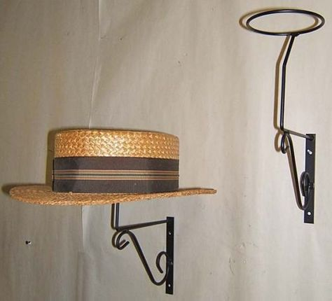3 Decorative mnt Wall Hat Rack display Millinery USA md
