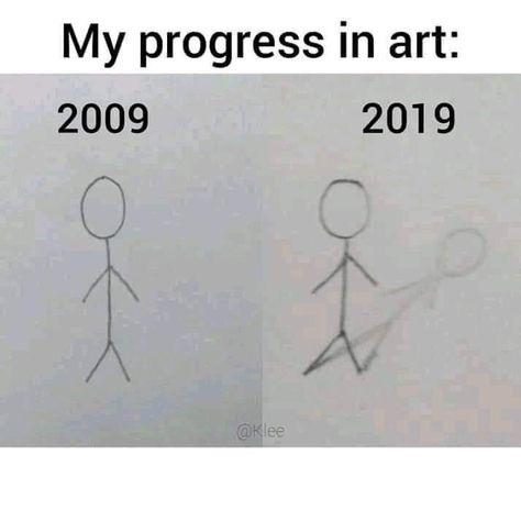 Text - My progress in art: 2019 2009 @Klee