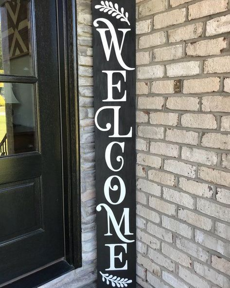 Best Welcome Sign Front Door Diy 61 Ideas Welcome Signs Front Door Front Porch Signs Porch Signs