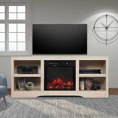 Media Storage Tv Stand With Electric Fireplace For Tvs Up To 65 Tv Console Electric Fireplace Tv Stand Tv Stand With Storage Media Storage