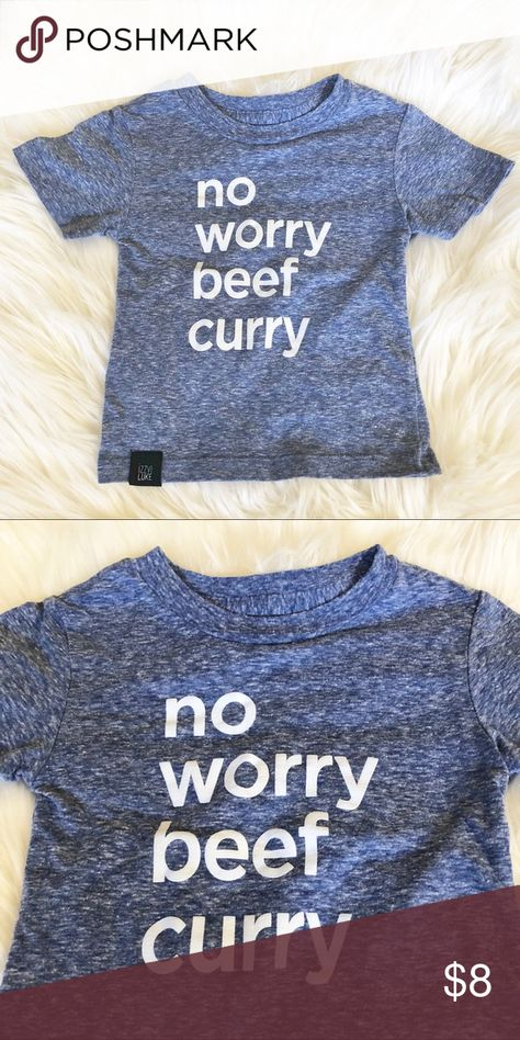 dccb72776625 Izzy and Luke Tee No worry beef curry! Size 6-12 months. Cute shirt by Izzy  and Luke Hawaii. Gently used. Good condition. Washed with dreft.
