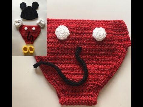 Cómo Hacer Cubre Pañal Para Bebé De Crochet Disfraz Mickey Laura Diy Youtube Disfraz Mickey Mickey