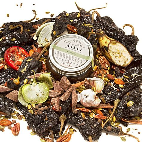 XILLI authentic, artisanal Mexican salsa, mole,  escabeches and adobos.  http://foodlyn.com/collections/xilli