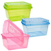 Bulk Small Rectangular Translucent Plastic Storage Containers With Lids At  DollarTree.com | Plastic Storage Containers, Plastic Storage And Storage ...
