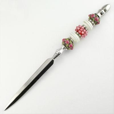 Letter opener with lampwork bead