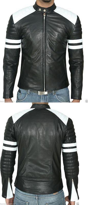 b2c4ef8aafa Men Coats And Jackets  Black Friday Men Motorcycle Black Lambskin Leather Jacket  Coat Outwear Jackets 4 BUY IT NOW ONLY   139.0