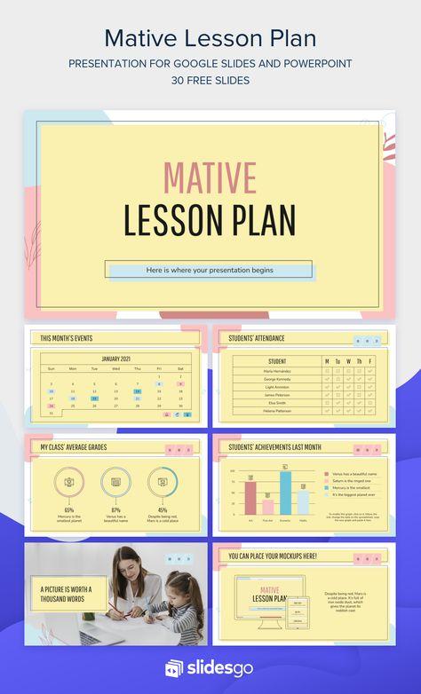 Mative Lesson Plan Google Slides & PowerPoint template