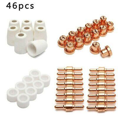 58Pcs PT31 Plasma Cutter Consumables Torch Electrode Tip Nozzle CUT40