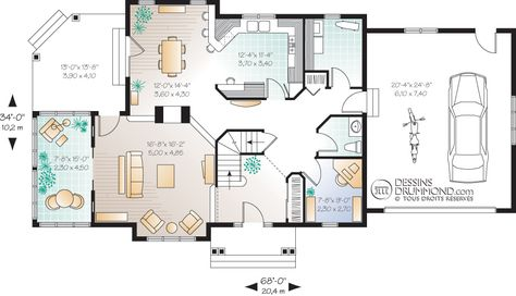 Champêtre W3816 Maison Laprise - Maisons pré-usinées Plan de - plan maison etage m