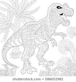 Stockfoto Und Stockbild Portfolio Von Big Boy Shutterstock Malvorlage Dinosaurier Malvorlagen Tiere Dinosaurier