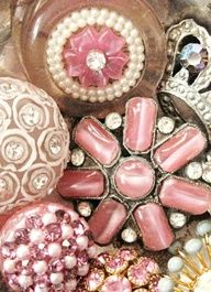 Gorgeous sparkly vintage rhinestone buttons in