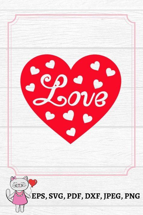 Love heart paper cut SVG ,DXF ,EPS files (1196050) | Cut Files | Design Bundles